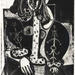 Žena v křesle (23.12.1948), litografie na papíře, 69,5 x 54,5 cm